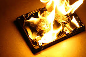 burned-hard-drive